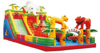 QX-111A forest theme inflatable jump