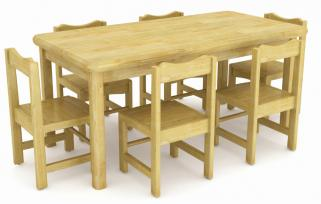 QX-196B wooden tables and chair set