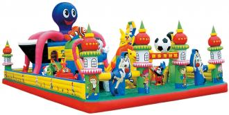 QX-114A jumping castles inflatable water slide
