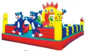 QX-113B Cartoon city theme inflatable bounce