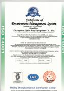 ISO environmental certification